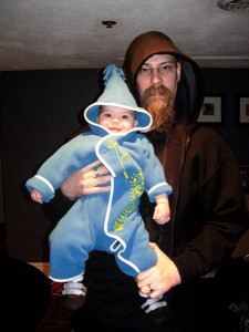Little Elf with her dad-the Unabomber