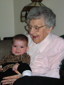 Two Lucille's are better than one: Lulu with her Great Grandmother Frazier